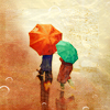 elyse: (two umbrellas in rain)