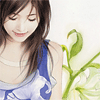 elyse: (sweet days: blue girl with green flower)