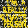 "nacre: yellow text on black background ""I'm a ReallyPrivate Person"" (private)"