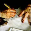 mayhap: hennaed hands, writing (Mai Yamani) (Default)