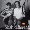 mayhap: young Steve Jobs and Bill Gates with text Slash Different (Slash different.)