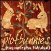 mayhap: medieval tapestry bunnies with text plotbunnies (lagomorpha fabulae) (plotbunnies)