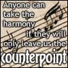 mayhap: sheet music with text Anyone can take the harmony if they will only leave us the counterpoint (counterpoint)