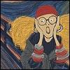 mayhap: Professor Trelawney à la the Scream (omg)