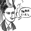 "sixtylilies: a bicyclist smoking and saying ""YEAH girl"" with an extremely self-satisfied expression. (yeah girl)"