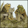 mayhap: toad reads to frog (frog and toad are friends)