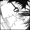 mayhap: Inui pushes Tezuka down as their eyes meet (InuTez)