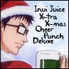 mayhap: Santa Inui with text Inui Juice X-tra X-Mas Cheer Punch Deluxe (Inui Juice X-tra Xmas Cheer Punch Deluxe)