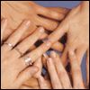 mayhap: five hands together (Together.)