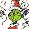 mayhap: the grinch in his santa hat, smiling (grinch)