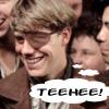 theletterfour: Kid Blink from Newsies, giggling (Newsies: Kid Blink: Teehee!)