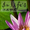 "jeshyr: A flower with text ""In life's name"" (Young Wizard, Young Wizard - In Life's Name)"