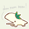whymzycal: a cute creature nomming! (ohm nom nom)