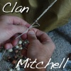 jeshyr: Hands crafting a braid, with the words 'Clan Mitchell' (Clan Mitchell - Hands)