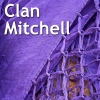 jeshyr: Home-made purple cloth, text 'Clan Mitchell' (Clan Mitchell - Cloth)