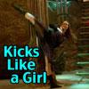 tryslora: (kicks like a girl)