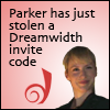 dreamfic: Picture: Parker and Dreamwidth D - Text: Parker stole an invite code (Leverage - Parker steal an invite code)