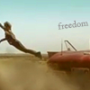 kerravonsen: Young James Kirk leaping from a car (Kirk-freedom, Kirk, freedom)