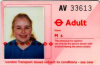 redbird: London travelcard showing my face (travelcard)