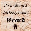 "redbird: Text ""Pixel-stained technopeasant wretch"" (technopeasant)"