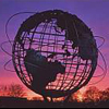 redbird: The Unisphere in New York's Flushing Meadow Park, with sunset colors (unisphere)
