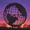 redbird: The Unisphere with sunset colors (unisphere)