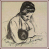 breastfeeding: Drawing by Cassatt of a woman breastfeeding (Cassatt Drawing) (Default)