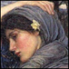"nightowl: Detail of ""Boreas"" by J.W. Waterhouse.  (That's her OWN hand on her head there.)"