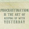 andersenmom: So My life (Procrastination)