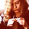 copracat: Karen Gillan as Jean Shrimpton knitting (Jean knitting)