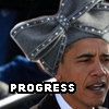 "niqaeli: Obama in Aretha's hat w/ text overlay that says ""progress"" (progress)"