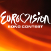 st_aurafina: The Eurovision logo, on a red and black background (Eurovision)