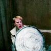 daphnie_1: Steve looking shocked hiding behind his sheild. (Marvel | Steve | but why would you do th)