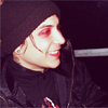 letsgofriday: Frank Iero with red eye makeup, side profile (mcr: frankw/redmakeup)