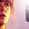 such_heights: donna looks up at the tardis (who: donna)