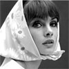 portias_fire: iconic photograph of Jean Shrimpton, wearing a head scarf (Jean Shrimpton head scarf)