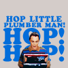 oxytone: Hop little plumber (Sheldon)