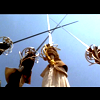 highlander_ii: 4 Musketeer swords saluting together from the Disney version of the movie ([3 Musk] All For One)