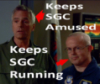 thothmes: General O'Neill & Walter.  Pointing to Jack - keeps SGC amused.  To Walter - keeps SGC running (Walter Runs It)