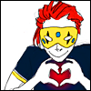 akamine_chan: Cartoon Party Poison making a hearthand (Ask Poison - Handheart)