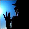 """highlander_ii: silhouette of Pink from """"Lady Marmalade"""" video ([Moulin Rouge] blue)"""