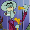 band8pgeek: Squilliam's phone-chatting about how awesome everything is. (happy icon)