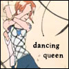 """piratequeen: From the anime One Piece, Nami dancing """"Dancing queen"""" (Dancing Queen)"""