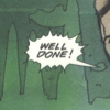 "ceri: Comic book word balloon for ""Well done!"" (Well done)"