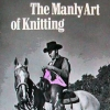onewhitecrow: cowboy knitting pink jumper on horseback (knitting)