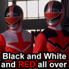 cmar: Time Force Red and Quantum Rangers (PR-Black White Red)
