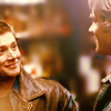lvlysnidrus: Dean and Sam from Supernatural smiling for once (Default)