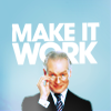 "venusinthenight: tim gunn with a hand on his glasses rim, looking down, ""make it work"" text in the background (pr - tim gunn says to make it work!)"