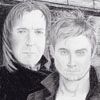 "choosetolive: Charcoal drawing of Harry Potter and Severus Snape, titled ""Mine"" (HP Mine)"