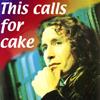 "muccamukk: The Eighth Doctor rubbing his chin contemplatively. Text: ""This calls for cake"" (DW: Calls for Cake)"